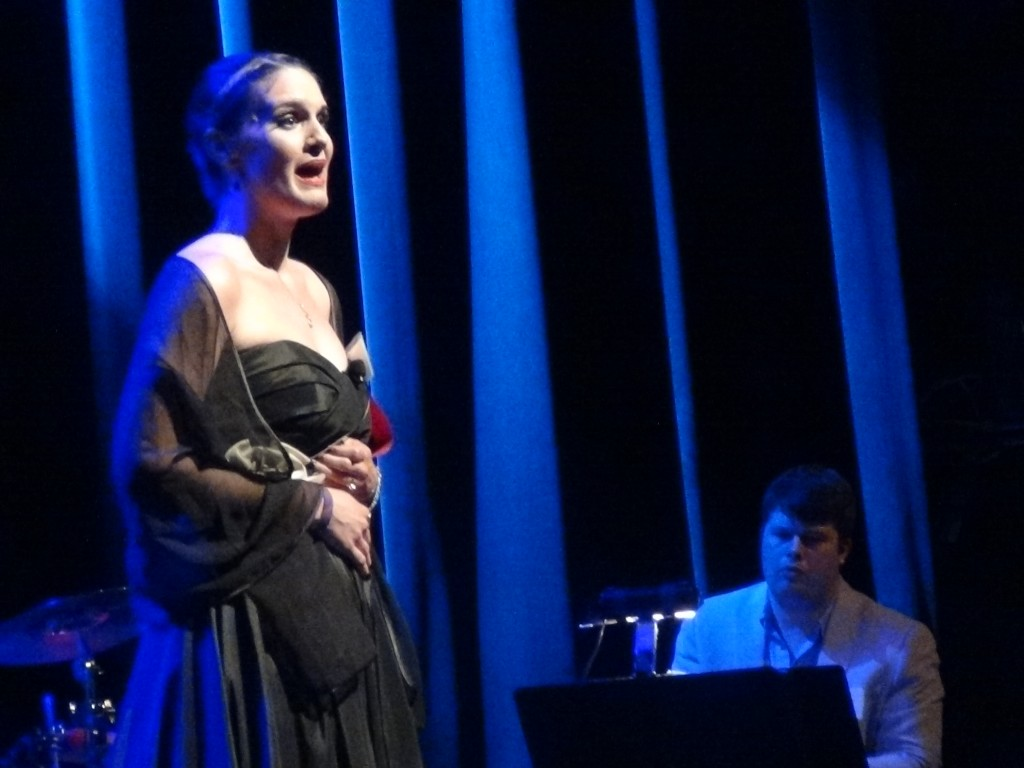 """- Danni Smith and Kory Danielson perform a song from Best Musical winner """"Passion"""" at the 2014 Jeff Awards."""